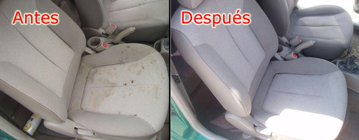 Limpieza tapicería del coche