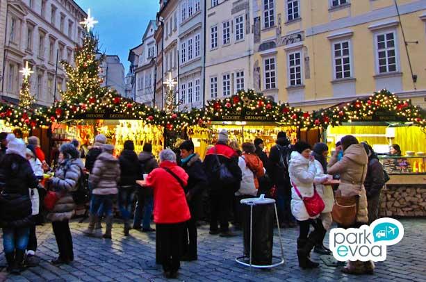 Mercado en Navidad Oporto