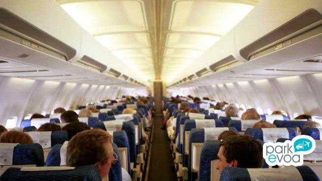 avion pasajeros viajeros cabina